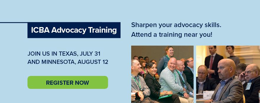 ICBA Advocacy Training Register Now