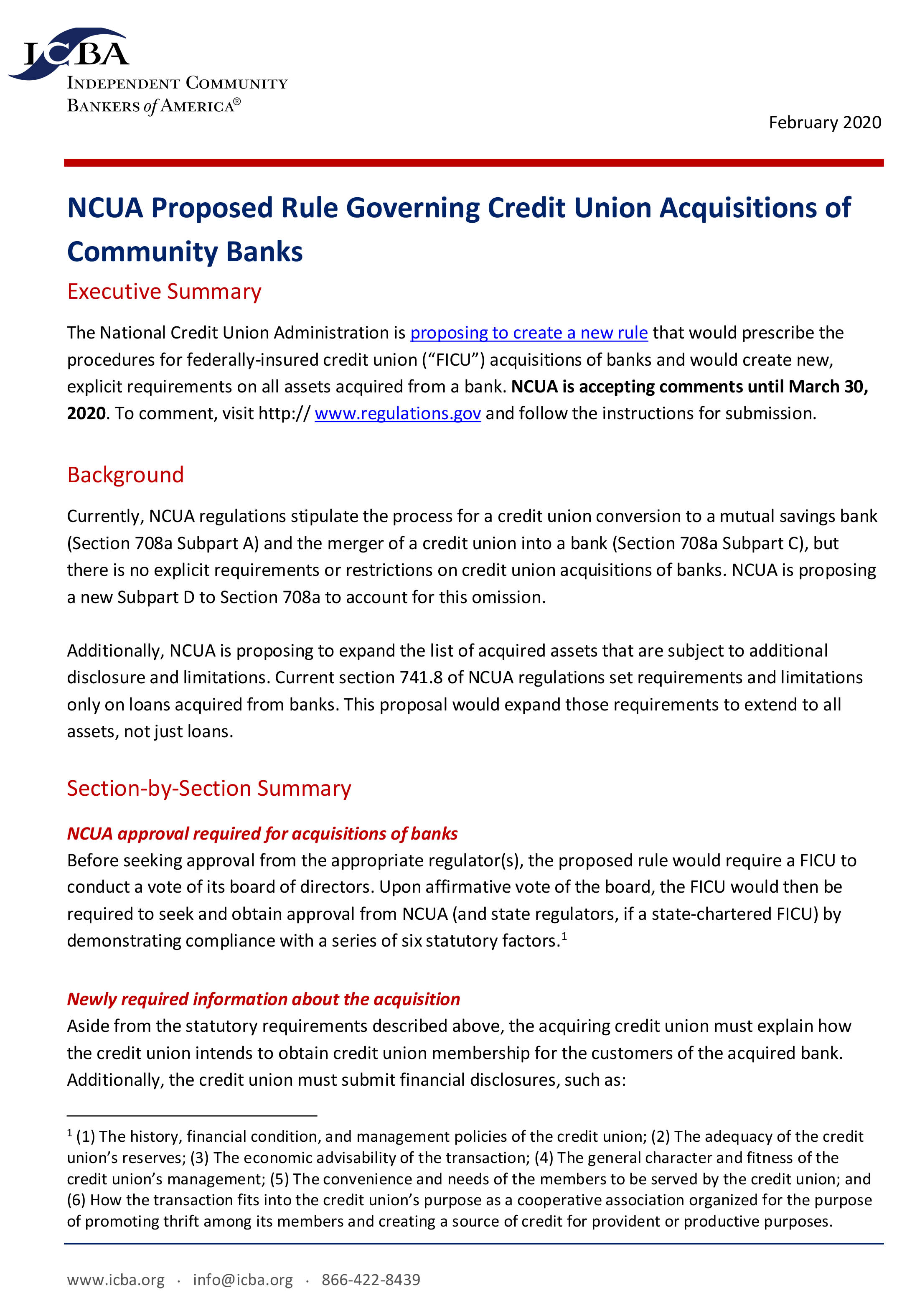 NCUA Proposed Rule