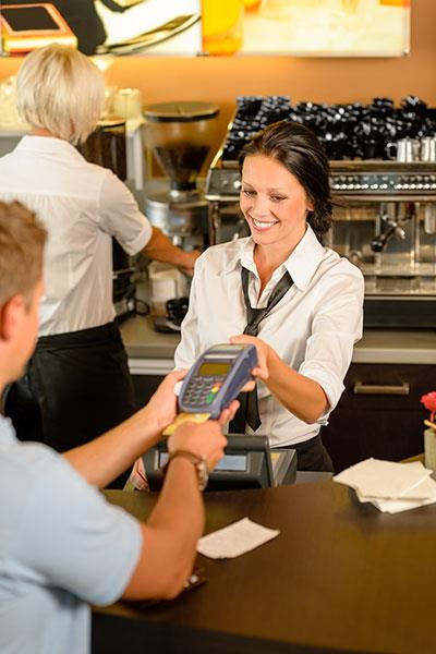 Taking credit card payment in restaurant
