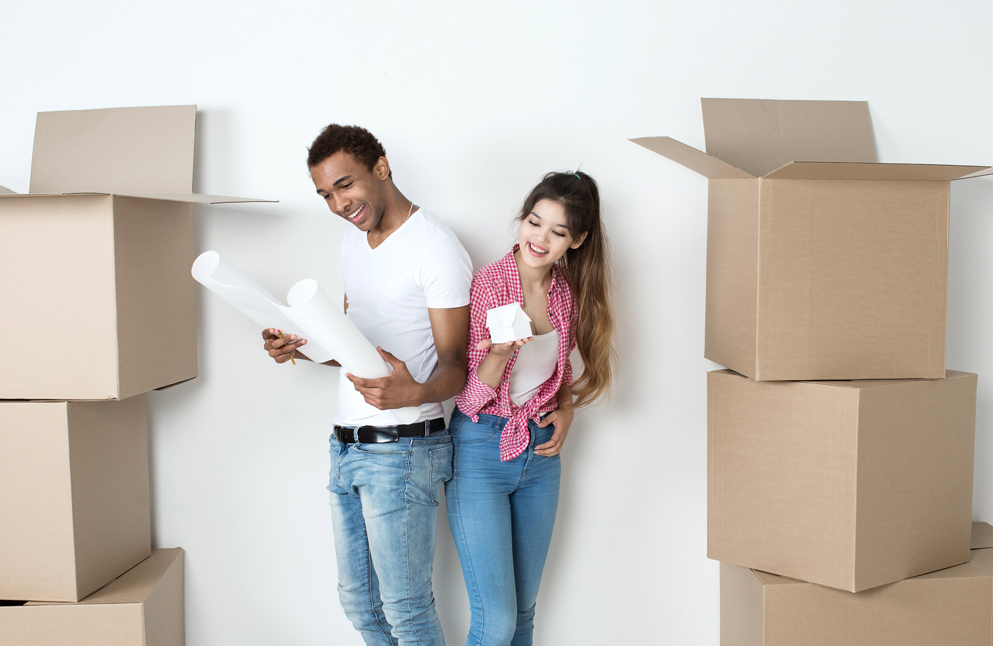 Couple moving into new place