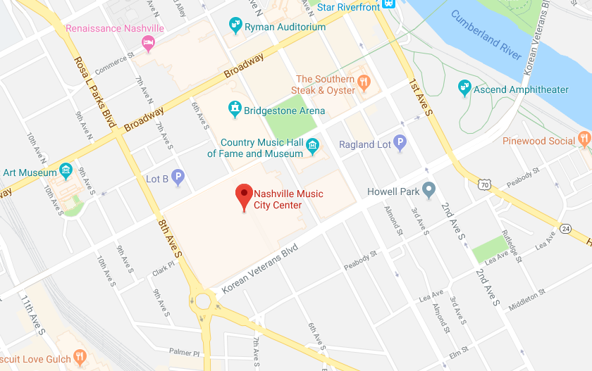 Google Map of Nashville