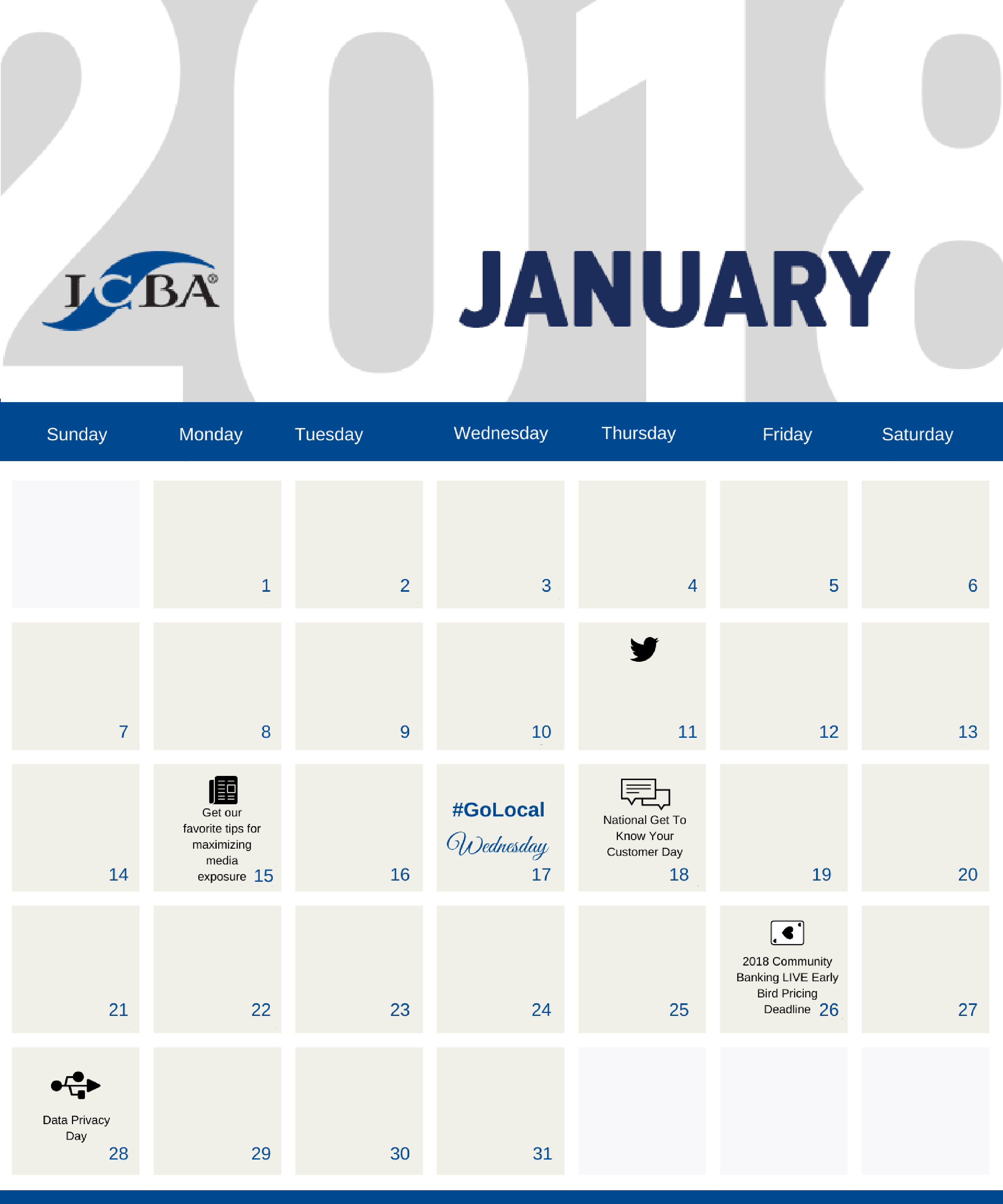 Community Bank Marketing Tools January