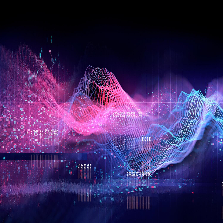 Digital Image Waves Squares