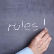 Rules written on a chalkboard