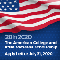 The American College and ICBA Veterans Scholarship